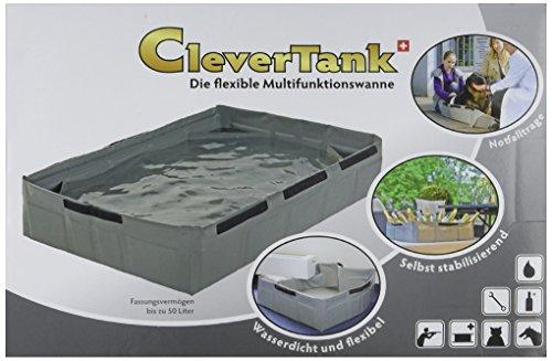 Kofferraumschutz CleverTank, Faltwanne, Maße: B 60 cm x T 60 cm x H 20 cm, Farbe grau