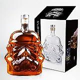 Karaffe für Whiskyflaschen, Whiskygläser, Whisky-Karaffe für Wein, Likör, Scotch, Bourbon, Brandy, 750 ml