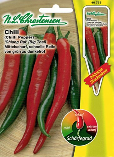 Chrestensen Gewürzpaprika / Chili 'Chiang Rai (Big Thai)' Saatgut Samen