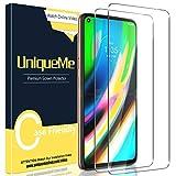 [2 Pack] UniqueMe Protector de Pantalla para Motorola Moto G9 Plus, Vidrio Templado [9H Dureza] HD Film Cristal Templado
