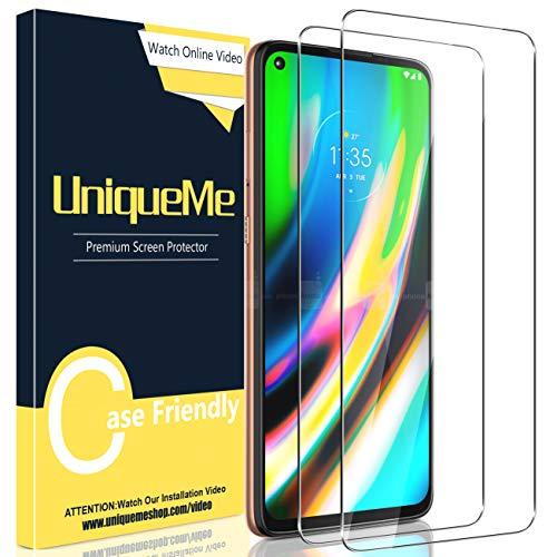 [2 Pack] UniqueMe Compatible con Motorola Moto G9 Plus Protector de...