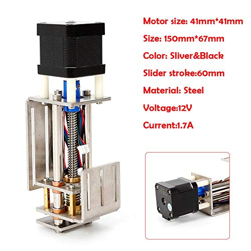 OUKANING 60MM CNC Z Eje Linear Unidad Slide Motion DIY 3 ejes Graviermaschine