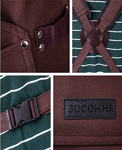 Work aprons for men,machinist apron,Tough blacksmith apron,Adjustable with Pockets canvas tool aprons (Coffee)