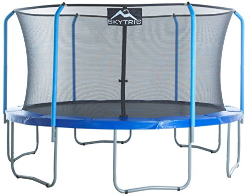 Skytric 15 ft Large Trampoline with Top Ring Enclosure System, Safety Net, Jumping Mat, Spring Cover Pad for Garden & Outdoor - Easy Assemble