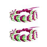 DonDon 2 farbige Unisex Freundschaftsarmbänder bzw. Partnerarmbänder // verschiedene Farben...