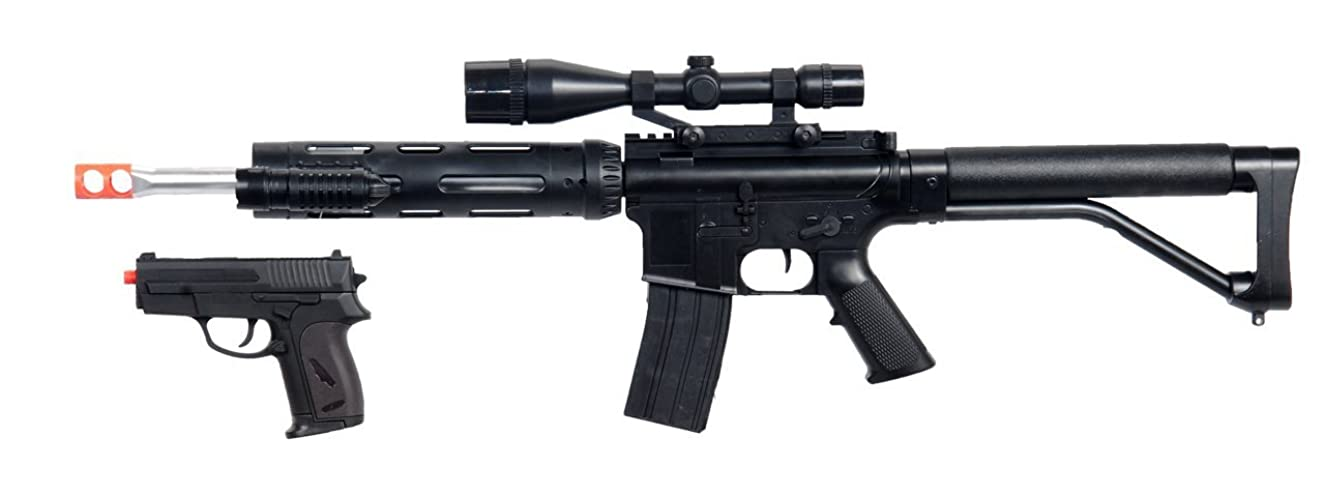 ukarms p1136 spring airsoft sniper rifle fps-280 free pistol combo w/ accessories(Airsoft Gun)