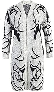 YXHM A Winter Straight Loose Knit Cardigan Jacket and Long Sections Women's Sweater (Color : Gray, Size : M)