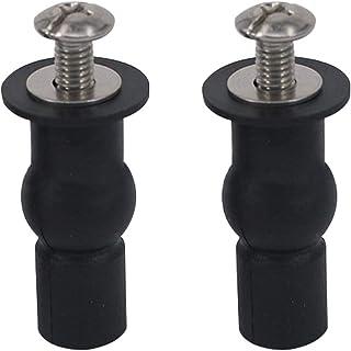 2 piezas Asientos WC Bisagra Accesorios Fijación Bisagra Asiento Tornillos Apto Para Todos Los Baños (14mm)