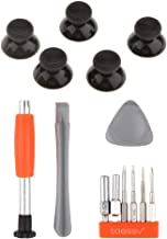 Homyl For Microsoft Xbox One Controller Thumb Grips Caps Thumbstick Covers & Screwdriver Set Tool Kit Triangle Paddle Repa...
