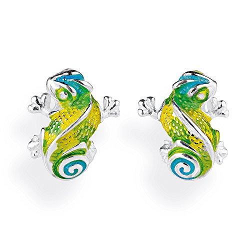 Heartbreaker Luxus Chamäleon Ohrstecker aus der Kollektion Chamäleon in Echtsilber | Ohrringe Silber 925 Sterling nickelfrei | Elegante Design Ohrringe für Damen