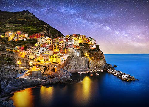 """Jigsaw Puzzles 1000 Pieces for Adults Great View Puzzles Gift for Kids Friends Family Parents- Manarola Italy Puzzle Game Toy Large Size 27.56"""" x 19.66"""""""