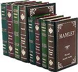 Bellaa 27932 Decorative Bookends Book Shelf Holder Stoppers Hidden Secret Storage Box Set 2 Wood 8 inch