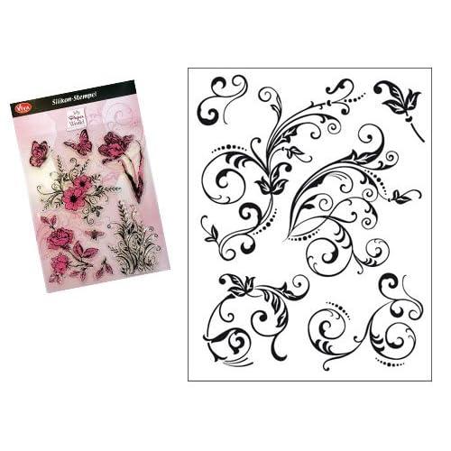 Viva Decor D7 Silicone Stamp, Floral Embellishments