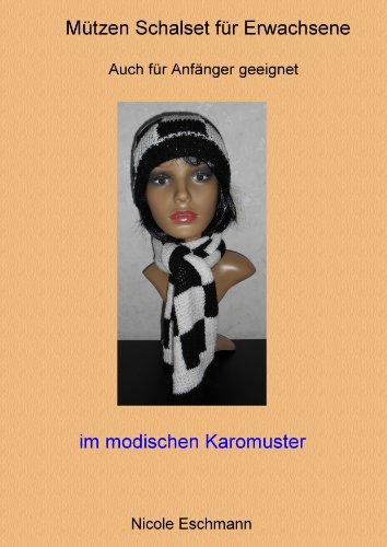 Mützen Schalset Modell 2 (Modisch im Karomuster Einzelanleitung)