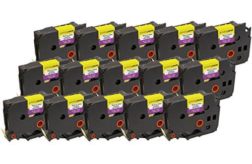 15 Compatibili TZe-631 TZ-631 12 mm x 8 m Nero su Giallo Nastri laminati per Stampanti per Etichette Brother P-Touch