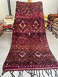 Alfombra marroquí Beni Mguild Berber, 100 % tejida a mano, natural, 334 x 184 cm