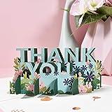 Tarjeta de agradecimiento 3D pop-up de agradecimiento para el día de la madre, día del padre, Acción de Gracias de negocios, agradecimiento de la amistad, grado tardío