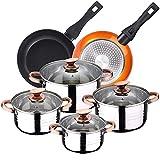 Bateria de cocina 8 piezas apta para induccion SAN IGNACIO A