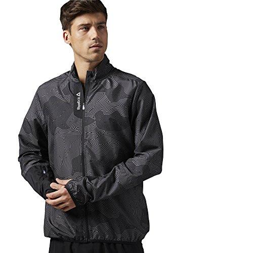 Reebok Giacca da Uomo Running Essentials Woven Jacket, Black, XL, AJ0323