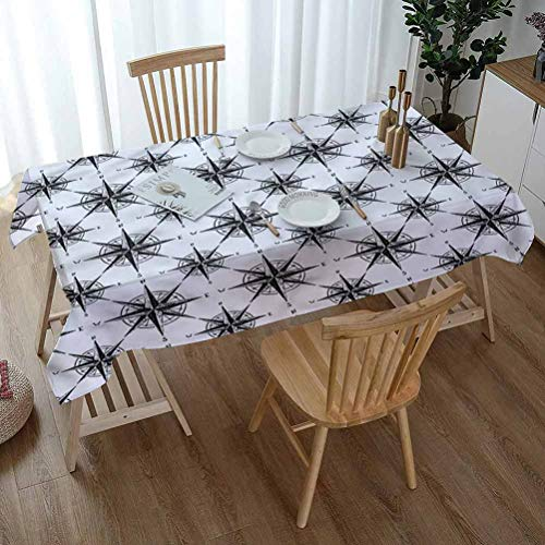 ScottDecor Compass Rectangle Tablecloths 60 x 90 Inch...