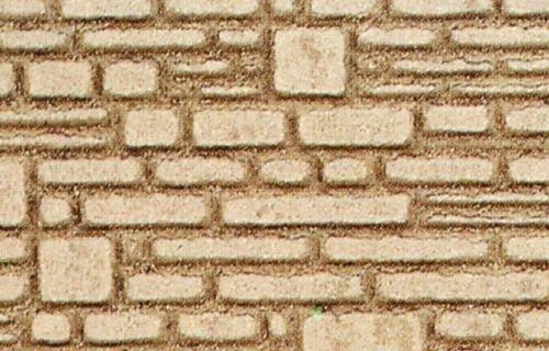 Heki 70012 Hewn Natursteinwand H0 / Tt 2 Stück, Größe: 28 x 14 x 0,3 cm, Mehrfarbig