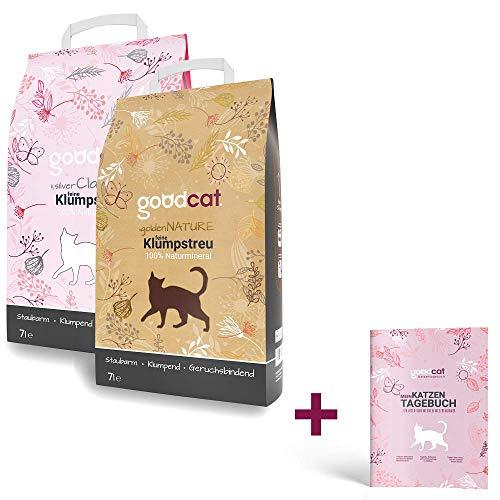 goodcat Katzenstreu Testpaket – 2X 7 Liter Klumpstreu