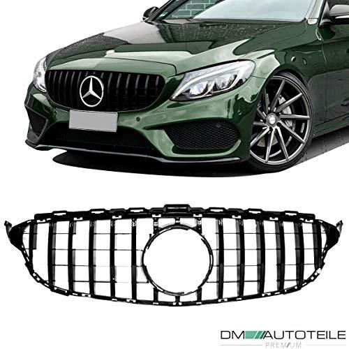 DM Autoteile Kühlergrill Grill Schwarz Glanz passend für C Klasse W205 S205 & AMG GT