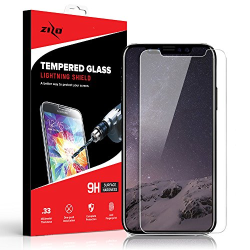 Zizo Glass Compatible with iPhone X Tempered Glass Screen Protector Anti Scratch 9H Hardness iPhone Xs Case