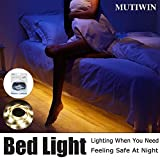 Under Bed Motion Activated Lighting with Pir Sensor, Mutiwin Bed Light Flexible LED Strip Illum…