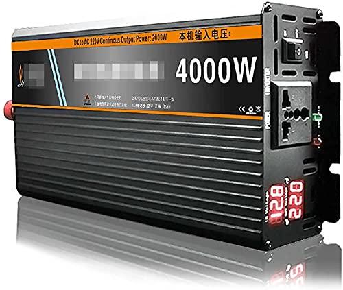 KONGLZG Inversor de Potencia de Onda sinusoidal Pura 3000W-6000W DC 12V-72V A CA 220V Convertidor con Pantalla LED