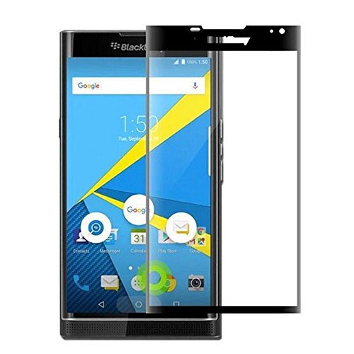 Azzil Tempered Glass 3D 9H Screen Protector Guard for BlackBerry Priv (Black)