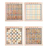 ZJDK Juego de Sudoku de Madera, 4/6/9 Cuadrícula Sudoku Juego de Mesa Ajedrez, Práctico Juego de Mesa de Rompecabezas con mosaicos numéricos para niños, niños