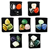 The Magic Is In You 21 Stone MEGA-Chakra Healing Tumbled Crystal Set with 7 Pouches & 7 Description Cards