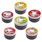Shiazo Dampfsteine Shisha Steam Stones Mixed Pack, 6 Sorten Wasserpfeife Stein Granulat Nikotinfreier Tabakersatz