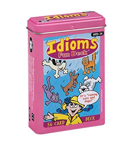 Super Duper Publications | Idioms Fun Deck | Figurative Language Skills Flash Cards | Educational Learning Materials for Children