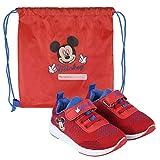 Disney Mickey Mouse Zapatillas Deportivas para Niños, Zapatos Clásicos y Ligeros, Diseño Cierre...
