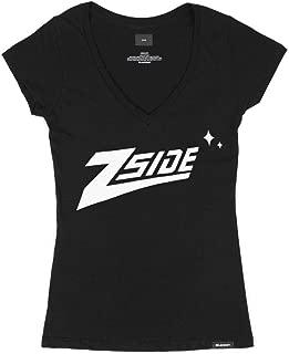 """3BLACKDOT Lauren Z Side """"Z-Side"""" Women's V-Neck Tee"""