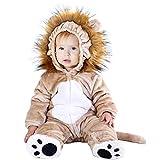 Hsctek Baby Lion Costume, Infant Lion Costume for Baby Boys Girls, Baby Halloween Costume for Toddler Newborn 9-12Months
