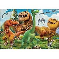 QMGLBG 5Dダイヤモンド塗装 漫画恐竜ダイヤモンド絵画子供の教育玩具ラインストーン工芸家の装飾30*40cm