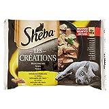 Sheba Les Créations Multipack Bolsitas de Comida Húmeda para Gatos, Sabor Pollo (4 bolsitas x 85g)