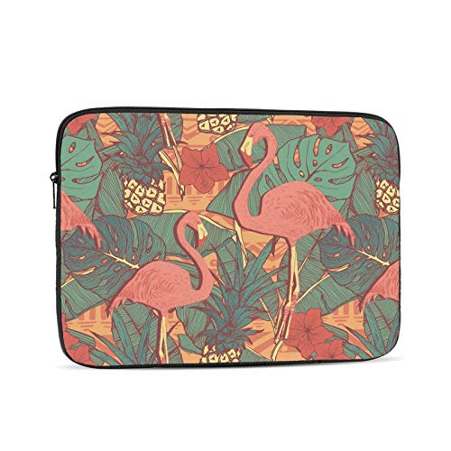 KXT Flamingos Floral Pineapples Laptop Sleeve,Carrying Bag Chromebook Case Notebook Bag Tablet Cover
