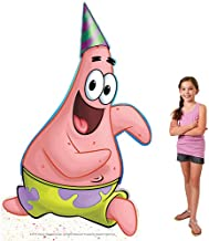5 ft. 8 in. Patrick Star Spongebob Squarepants Birthday Standee Standup Photo Booth Prop Background Backdrop Party Decoration Decor Scene Setter Cardboard Cutout