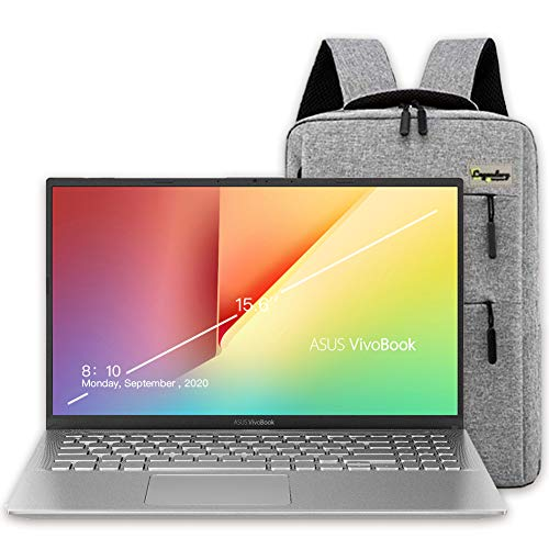 2020 ASUS VivoBook 15 15.6' FHD Display Laptop Computer, AMD Ryzen 7-3700U, 12GB RAM, 512GB PCIe SSD, AMD Radeon RX Vega 10, Webcam, HDMI, Windows 10, Silver + Lengendary Backpack & Mousepad