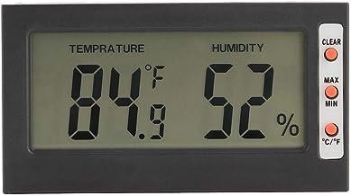 AUNMAS Higrómetro Digital Termómetro Interior Monitor de Humedad Indicador 2 en 1 para el Invernadero de la Oficina en casa