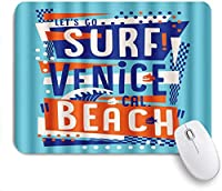 PATINISAマウスパッド Letters Surfベニスビーチ ゲーミング オフィス最適 高級感 おしゃれ 防水 耐久性が良い 滑り止めゴム底 ゲーミングなど適用 マウス 用ノートブックコンピュータマウスマット