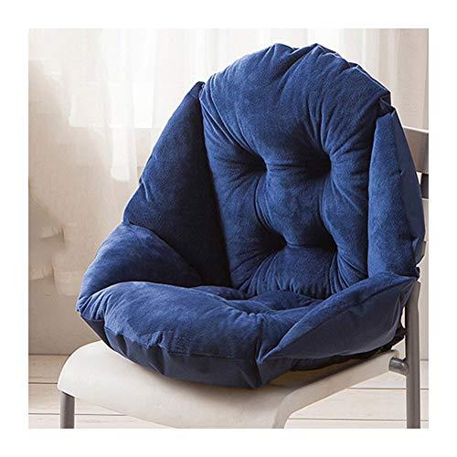 HONGBI Stuhlauflage Dicke Stuhlkissen mit Rückenteil Warm Sitzauflage Sitzpolster für Gartenmöbel Wie Hochlehner Gartenstuhl Angenehme Dunkelblau 48x40cm