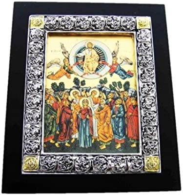The Ascension Mt. Sinai Framed Icon (7in x 5.7in) Israel