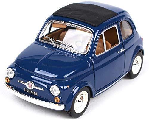 Xiaoyue Modello di Auto Fiat 500L 1968 Modello dell'automobile della Lega di Simulazione, Il Modello Fiat Classic, Il Rapporto di 01:24 (Colore: Blu) lalay (Color : Blue)