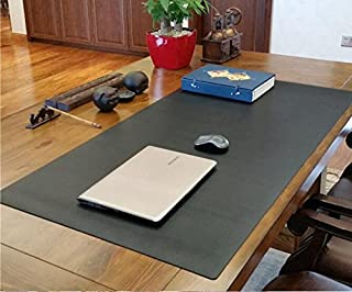 Best to Buy XXL Gaming PU Leather Mouse Pad Mat Waterproof, Perfect Desk Writing Mat for Office and Home,Reversible Design,Ultra Thin 2mm (47''W x 23.5''H x 0.2''TH) (Black)