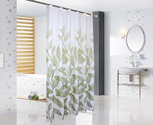 AI XIN SHOP Badezimmer- Grünes Blatt Verdickung Wasserdicht Und Moldy Duschvorhang Badezimmer Vorhang Fenster (größe : 2.8 * 2m)